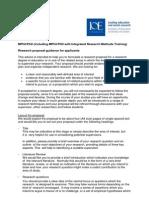 MPhilPhD Research Proposal Guidance