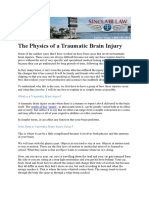 The Physics of a Traumatic Brain Injury
