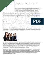 Master MBA En Direccion De Comercio Internacional Madrid