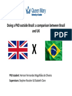 talk for brazil - comparison about the phd in the uk and in brazil