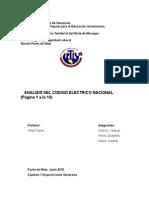 Analisis del Código Eléctrico Nacional