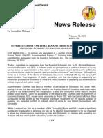Cortines Resignation From Scholastic 02-18-10