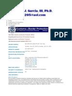 Margarito J. Garcia, III, Ph.D. - CBP Jobs Information