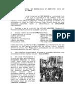Avaliação Bimestral de Sociologia 2º Bimestre 2014 (2º Chamada) - 2º Ano