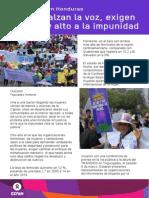 IDM Honduras Mujeres Exigen Justicia
