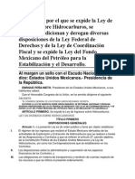 11-08-14 Ley de ingresos sobre Hidrocarburo