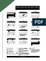 Calendario SEP 2015-2016
