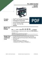 Onan Pro 4000 Generator Overview