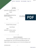Google Inc. v. Wolfe - Document No. 56