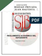 Reglamento Académico Del Estudiante
