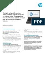 HP ProBook 6470b Datasheet
