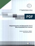 Informe de Seguimiento 18-14 Departamento de Educacion de La Municipalidad de Linares Programa de Integracion Escolar - Junio 2015