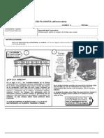 Guía Cuarto Diferenciado, Actividad Presocrática Nº2
