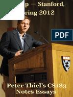 Peter Thiel Start Up