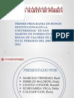 Primer Programa de Bonos Institucionales La Universidde Ad[1]