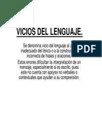 Vicios Del Lenguaje PDF