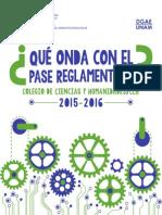 Instructivo para el Pase Reglamentado 2015