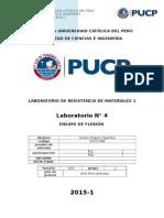 Informe de laboratorio flexion