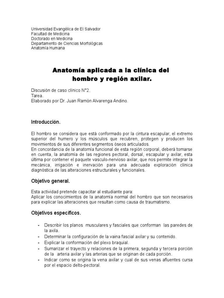 Caso Clinico N 2. Anatomia Humana I