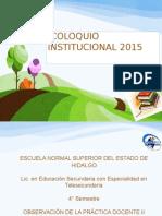 coloquio institucional 2015