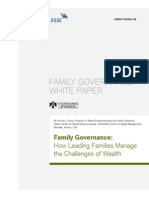 Cs Family Governance White Paper