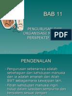 Pengurusan Dan Organisasi Menurut Perspektif Islam
