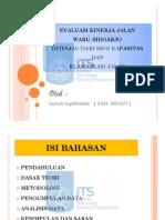 Evaluasi Kinerja Jalan Waru-Surabaya_PPt