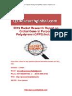 Global General Purpose Polystyrene (GPPS) Industry Report 2015