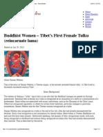 Buddhist Women - Tibet's First Female Tulku (Reincarnate Lama) - Pema Khandro
