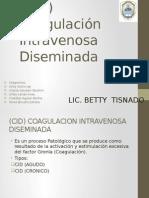 CID Coagulación Intravenosa Diseminada