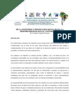 De la Extensión y Proyección Social hacia la Responsabilidad Social Universitaria