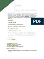 Common Pronunciation Errors
