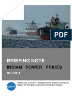 IEEFA Briefing Note IndianElectricityCoalPricing 4 May 2014