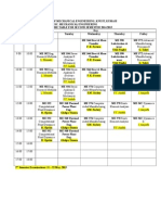 MSc Time Table 2nd Semester 2014_2015. and Student Course Selection