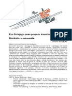 ECOPEDAGOGIA TRANSDISCIPLINAR