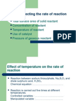 Factors Affecting the Rate of Reaction