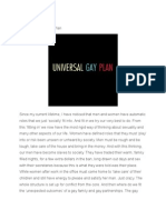 The Universe Gay Plan