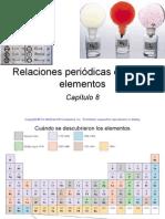 Diapositivas Relaciones Periodicas Entre Los Elementos