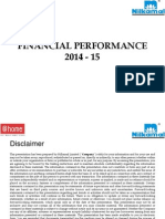 Presentation 2014 15 Investor Nilkamal