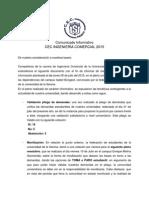 Comunicado Informativo Cec Ingeniería Comercial