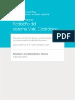 Rediseño Voto Electrónico