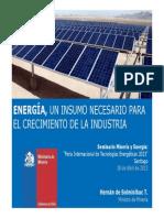 01.- Energía, Un Insumo Necesario Para El Crecimiento de La Industria