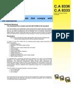 Caracteristici Tehnice CA8336 61000-4-30 Eng
