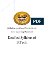 Syllabus B.tech Jjtu