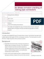 HSE Safety Alert - External Chloride Stress Corrosion Cracking of Stainless Steel Lokring Pipe Connectors