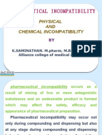 Physical and Chemical Incompatibilities