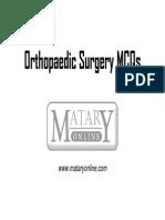 Orthopaedic Surgery MCQ's