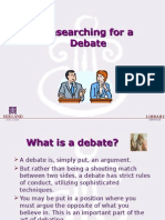 English Debate- Research