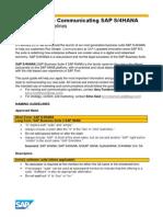 SAP S4HANA CommunicationGuidelinesSA15