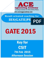 GATE-2015 AnswerKeys